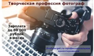 Профессия фотограф: описание — плюсы и минусы, оплата труда