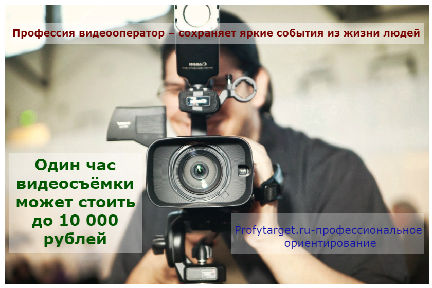 Профессия - видеооператор